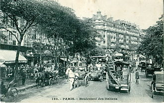 Boulevard des Italiens - Buildings on the Boulevard des Italiens at the start of the 20th century