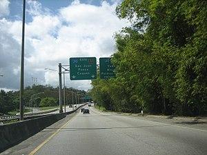 Puerto Rico Highway 60 - PR-60 going west to PR-30.