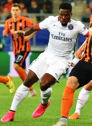 Serge Aurier - Aurier in action in a Champions League match away to Shakhtar Donetsk in October 2015