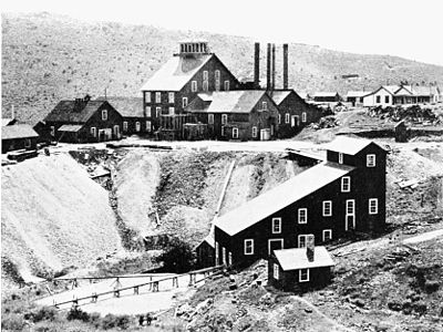 PSM V49 D771 Alta mine mill and dump on gold hill.jpg