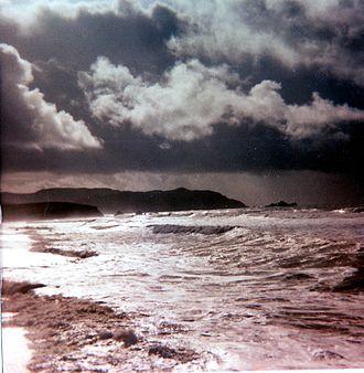 Pacifica, California - Pacifica shoreline during the 1983 El Niño