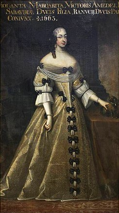 Painting of Margherita Yolanda di Savoia while Duchess of Parma by an unknown artist.jpg