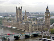 The Palace of Westminster, Parliament of the United Kingdom.
