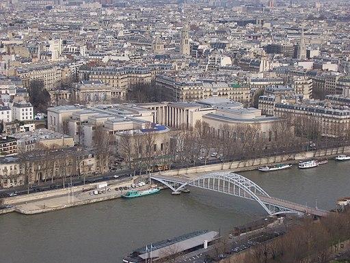 aerial view Palais de Tokyo Paris France