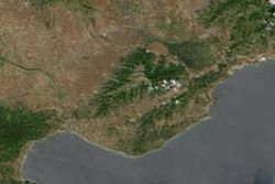 Pangaion Mountain satellital view.jpg