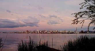 Porto Alegre - Porto Alegre skyline during sunset