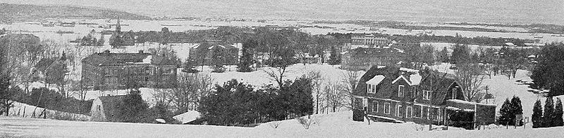 Panoraamanäkymä kampukselle, 1916