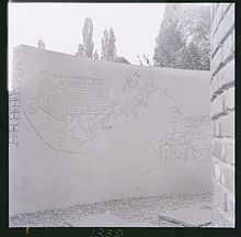 Saul Steinberg, Graffiti, 1954, per la X Triennale di Milano, Padiglione Il labirinto dei ragazzi (poi demolito).