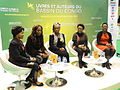 Paris, Salon du Livre 2015 (13) cinq des auteures congolaises du Singe de sable.JPG