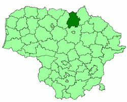 Location of Pasvalys district municipality within Lithuania