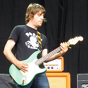 Paul Banks (musician, born 1973) - Paul Banks performing with Shed Seven at the V Festival, Weston Park, 2008