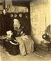 Paul Hoecker - Großmutter und Enkelin am Kamin.jpg