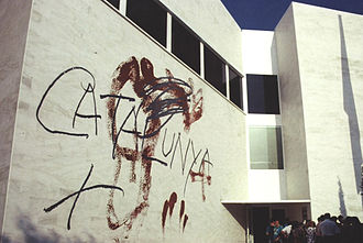 Antoni Tàpies - Mural at the Catalan Pavilion at the Seville Expo '92