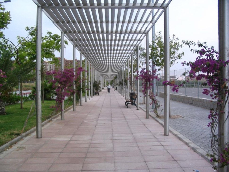 Pavement with arbour - compressed