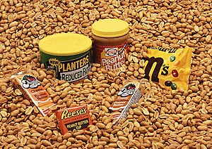 Peanuts are found in a wide range of grocery products.