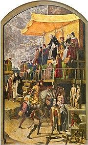 Pedro Berruguete Saint Dominic Presiding over an Auto-da-fe 1495