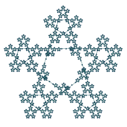 Fractal pentagram drawn with a vector iteration program PentagramFractal.PNG