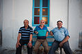 People of Mykonos island (full-length outdoor portrait). Cyclades, Agean Sea, Greece.jpg
