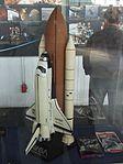 Petőfi Csarnok, Repüléstörténeti kiállítás, Space Shuttle Discovery modellje.JPG