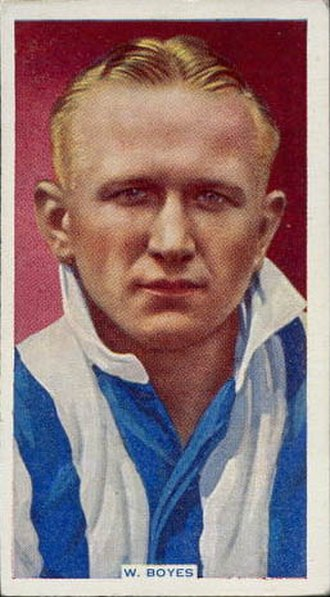 Walter Boyes - Boyes displayed on a football card  by Godfrey Phillips