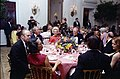 Photograph of President Gerald R. Ford, Mrs. Lee Kuan Yew, Arnold Palmer, Eva Gabor and other Guests Seated in the State Dining Room During a State Dinner Honoring Prime Minister Lee Kuan Yew of Singapore - NARA - 7518587.jpg