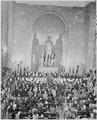 Photograph of President Truman speaking at the George Washington National Masonic Memorial in Alexandria, Virginia... - NARA - 200177.tif