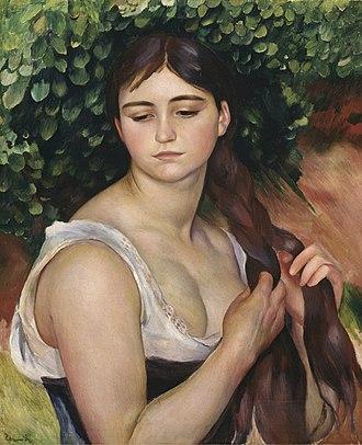 Suzanne Valadon - Image: Pierre Auguste Renoir Suzanne Valadon La Natte Girl Braiding Her Hair