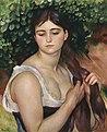 Pierre-Auguste Renoir - Suzanne Valadon - La Natte - Girl Braiding Her Hair.jpg