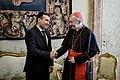 Pietro Parolin with Zoran Zaev during his trip in the Vatican City in 2018.jpg