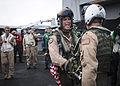Pilots complete 1,000th trap aboard USS Nimitz. (9623226700).jpg