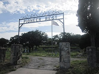 Menard County, Texas - Historic Pioneer Rest Cemetery in Menard has graves dating to the 19th century.