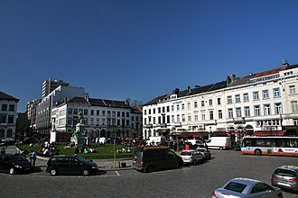 Place du Luxembourg - View facing toward town, away from the parliament.