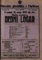 Plakat za predstavo Dedni logar v Narodnem gledališču v Mariboru 12. maja 1922.jpg