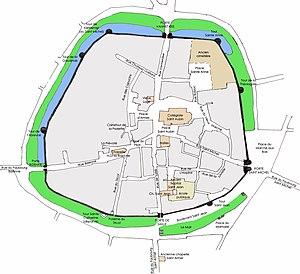 Guérande - Guerande map, vieille ville