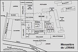 Plan de l'abbaye de Lérins