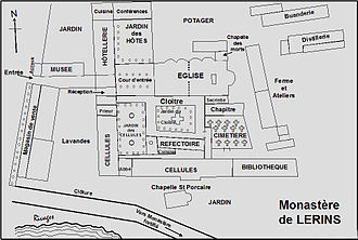 Lérins Abbey - Plan of Lérins Abbey.
