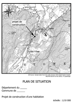 Plan de situation wikip dia for Echelle plan de situation