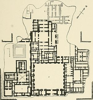Dur-Sharrukin - Plan of Palace of Sargon Khorsabad Reconstruction 1905