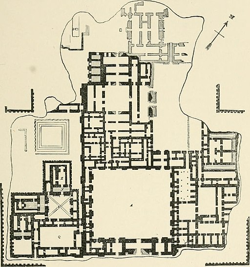 Plan of Palace of Sargon Khosrabad Reconstruction 1905