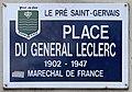 Plaque Place Général Leclerc - Le Pré-Saint-Gervais (FR93) - 2021-04-28 - 1.jpg