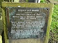 Plaque on west approach to the Hebden Old Bridge - geograph.org.uk - 1203515.jpg