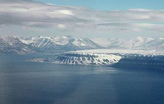 Platåberget mountain in Nordenskiöld Land on the island of Spitsbergen in Svalbard, Norway