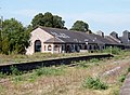 Platform 9 & the maltings, Newton Abbot railway station, South Devon.jpg