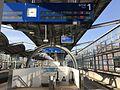 Platform and electronic signage of Yukuhashi Station.jpg