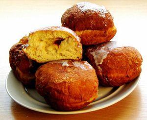Fat Thursday - A plate of Polish pączki