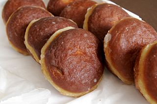 Pączki Polish filled pastry