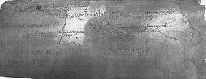 Roman graffiti - Sample of poetry from stairwell of House of Maius Castricius, Pompeii