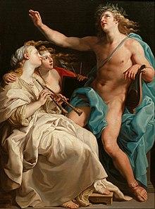 Pompeo Batoni (workshop replica) - Apollo and two Muses - Google Art Project.jpg