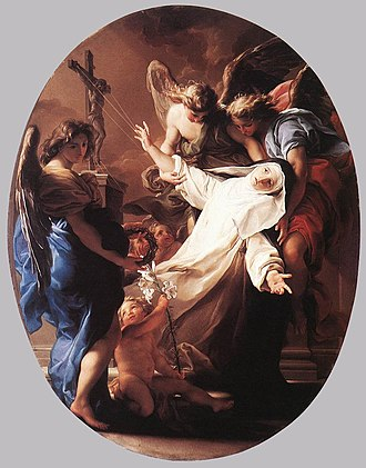 Religious ecstasy - The Ecstasy of St. Catherine of Siena by Pompeo Batoni