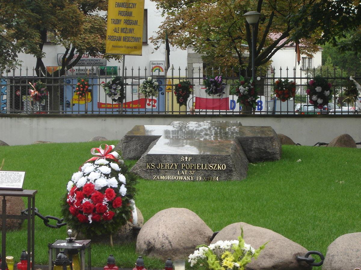 Grób Jerzego Popiełuszki w Warszawie